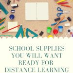 flat lay of a notebook and stationery - school supplies you will need for distance learning